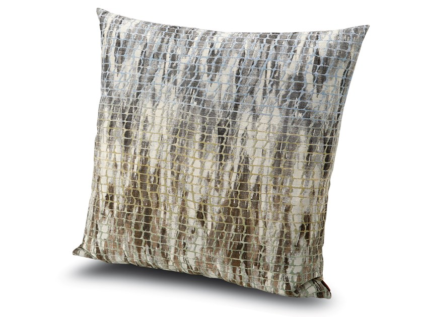 Cuscino in tessuto jacquard effetto rete YWANGAN by MissoniHome