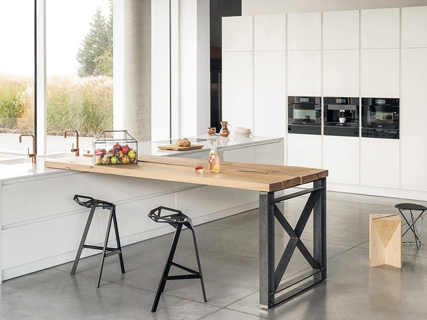 Kitchen With Island With Integrated Handles Z1 By Zajc