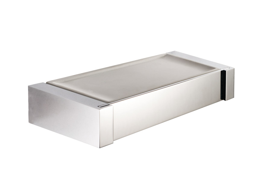 Wall-mounted resin soap dish ESSENZA | Wall-mounted soap dish by LINEAG