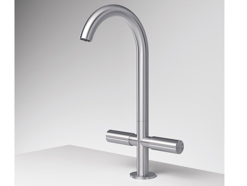 Countertop 1 hole stainless steel kitchen mixer tap Z316 | 1 hole kitchen mixer tap by ZAZZERI