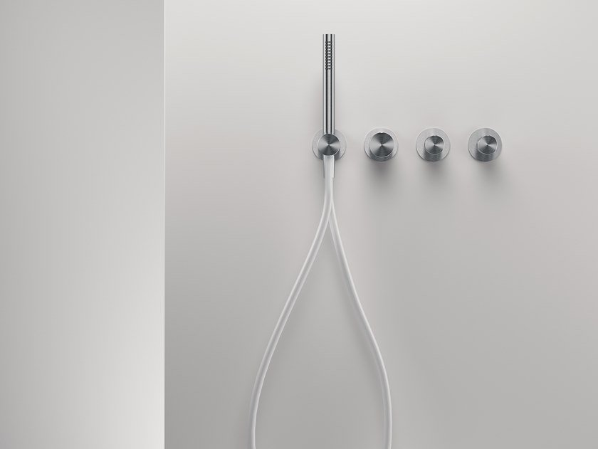 4 hole stainless steel shower set with hand shower Z316 | Shower set by ZAZZERI