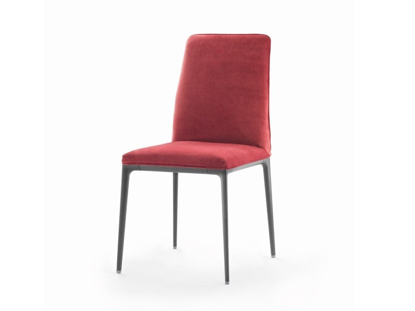 Upholstered fabric chair with removable cover ZADIE by Marac