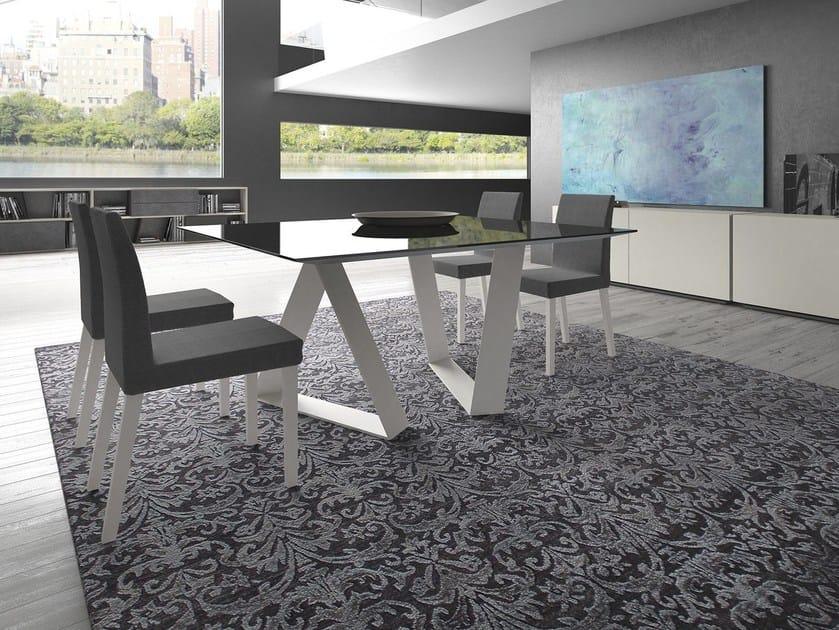 Rectangular glass table ZAFFIRO by Presotto