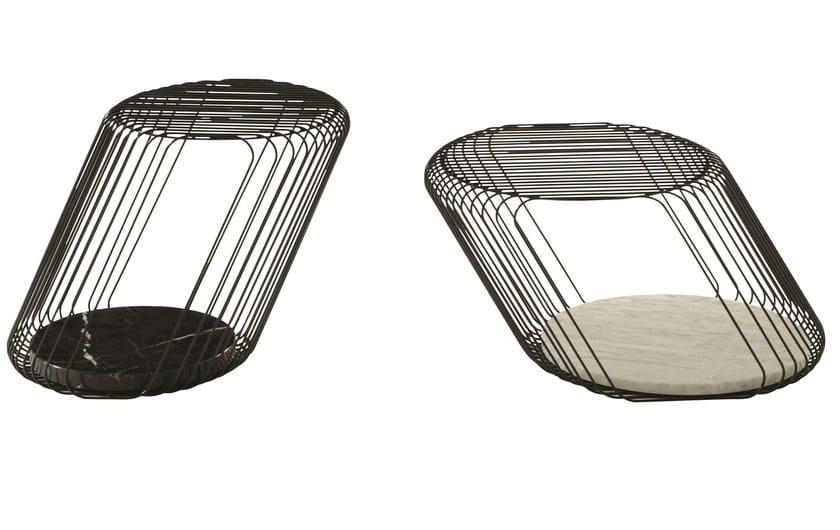 Steel side table ZAG by ROCHE BOBOIS