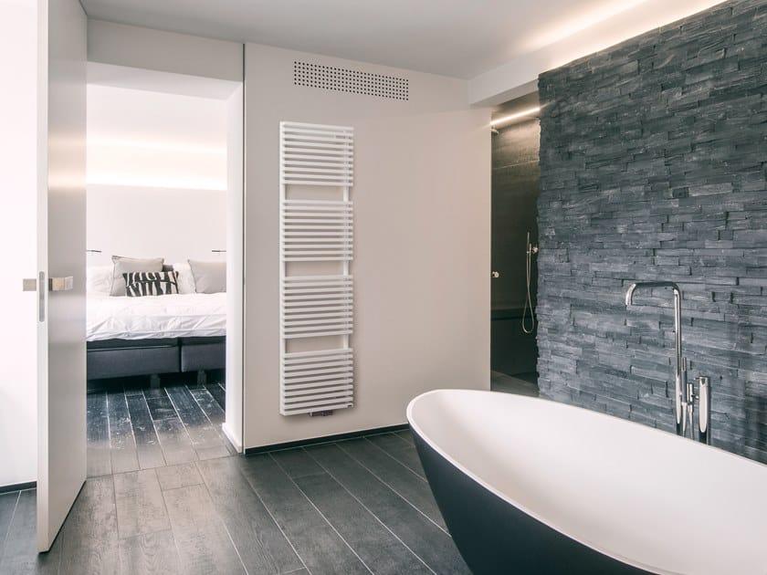 Wall-mounted steel towel warmer ZANA BATH by VASCO