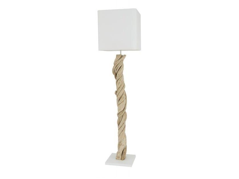 Wooden floor lamp ZANAGA | Floor lamp by Flam & Luce