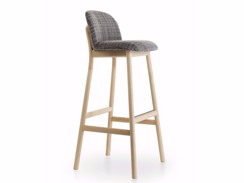 High stool with footrest ZANTILAM 06 by Very Wood
