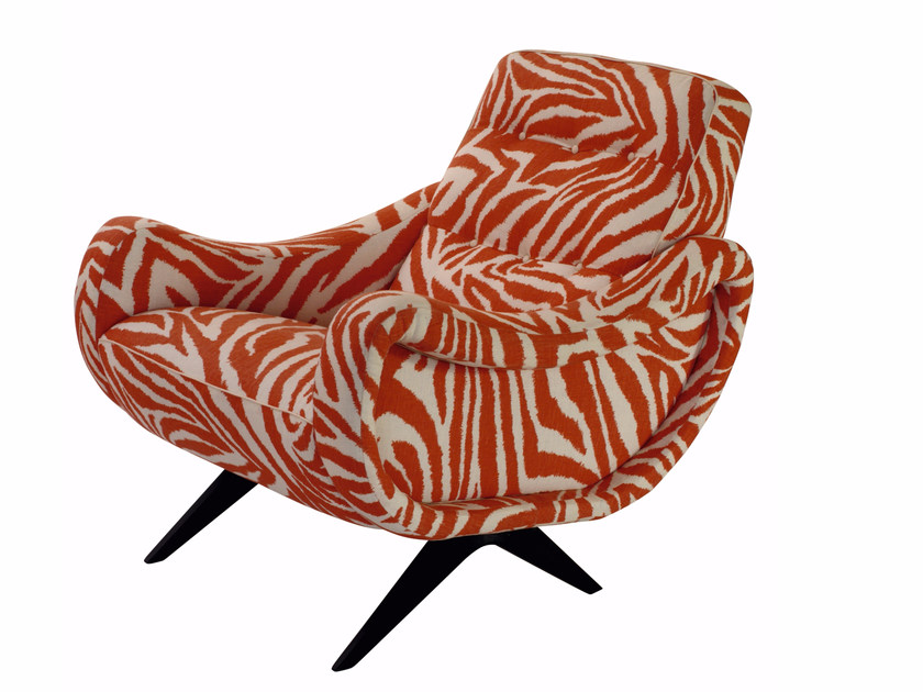 Upholstered fabric armchair with armrests ZANÙ by SOFTHOUSE