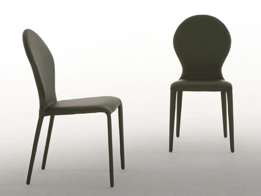 Leather chair ZAR by Tonin Casa