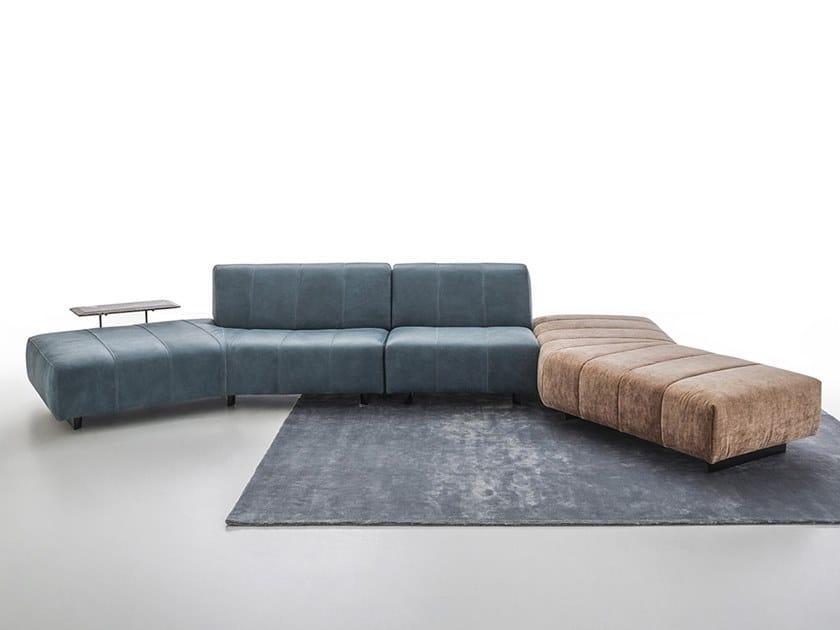 Sectional leather sofa ZARA by NICOLINE
