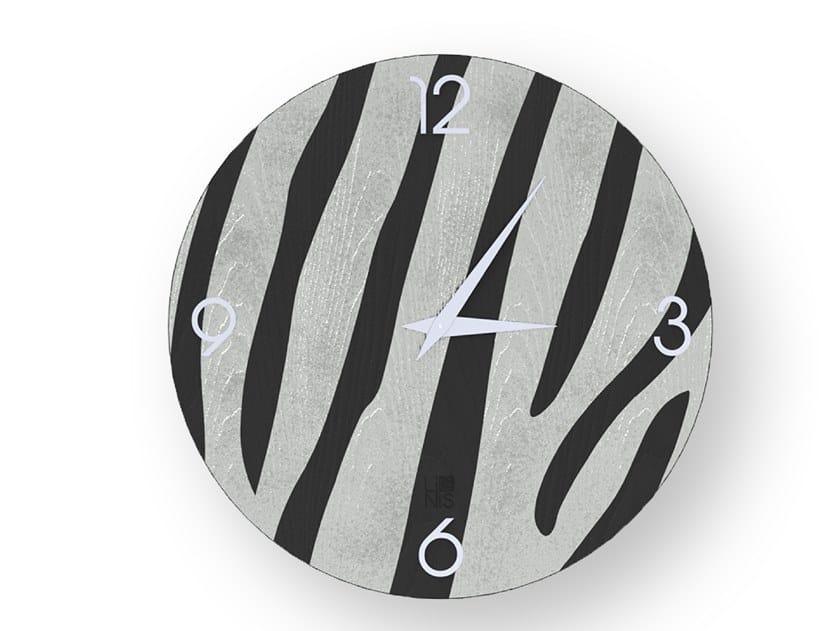 Orologio da parete in legno intarsiato ZEBRA COLD | Orologio by LIGNIS®