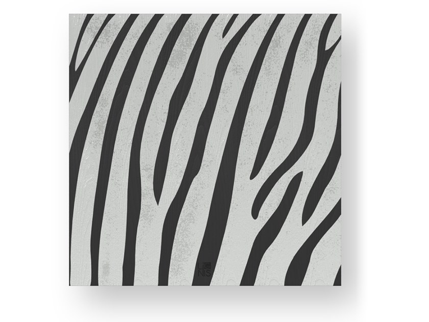 Quadro in legno intarsiato ZEBRA COLD by LIGNIS®