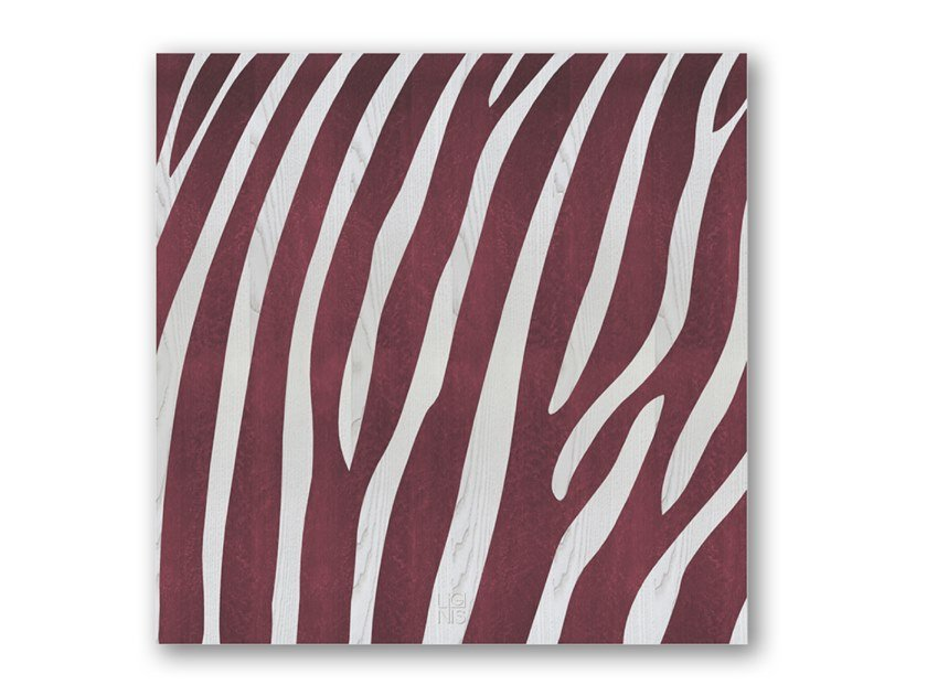 Quadro in legno intarsiato ZEBRA COLORS by LIGNIS®