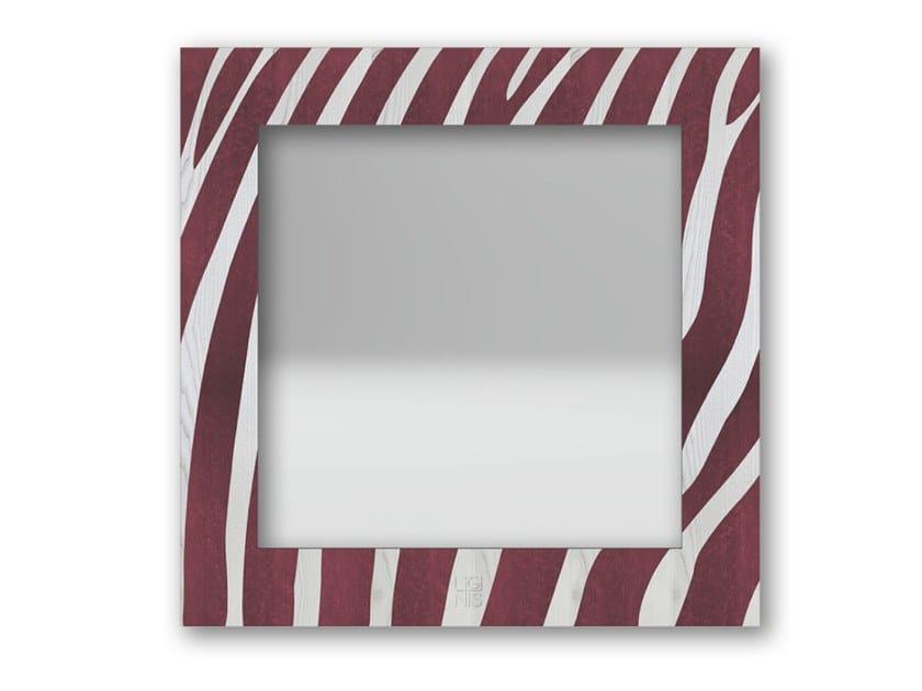 Specchio quadrato da parete con cornice ZEBRA COLORS | Specchio by LIGNIS®