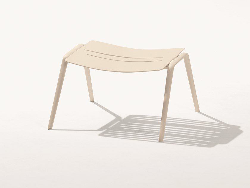 Rectangular aluminium garden footstool ZEBRA | Footstool by FAST