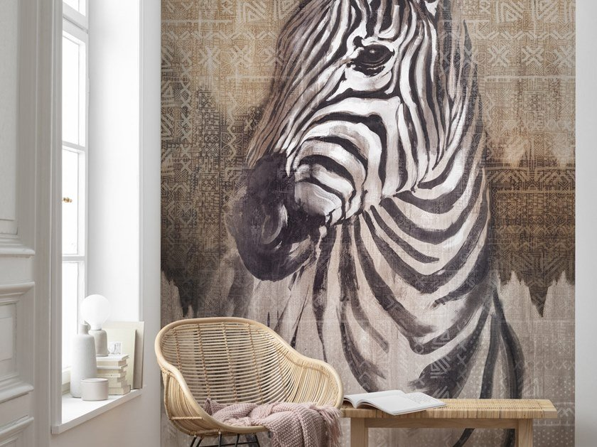 Zebra print nonwoven wallpaper ZEBRA by Komar
