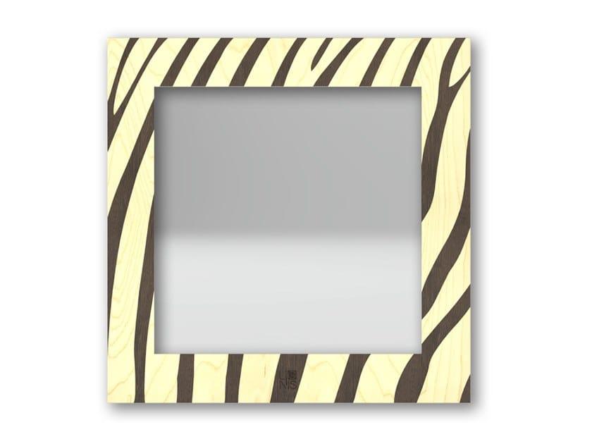 Specchio quadrato a parete con cornice ZEBRA WARM | Specchio by LIGNIS®
