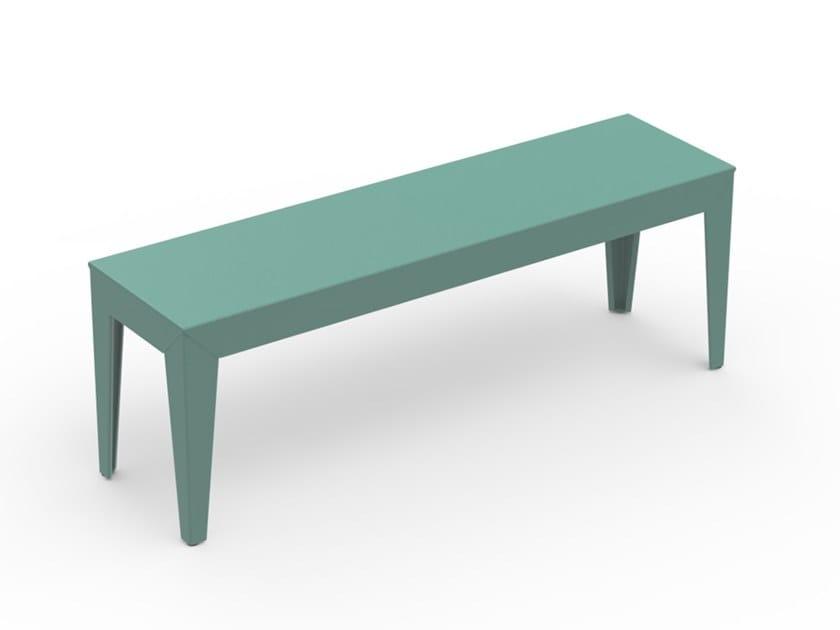 Powder coated aluminium garden bench ZEF | Garden bench by Matière Grise