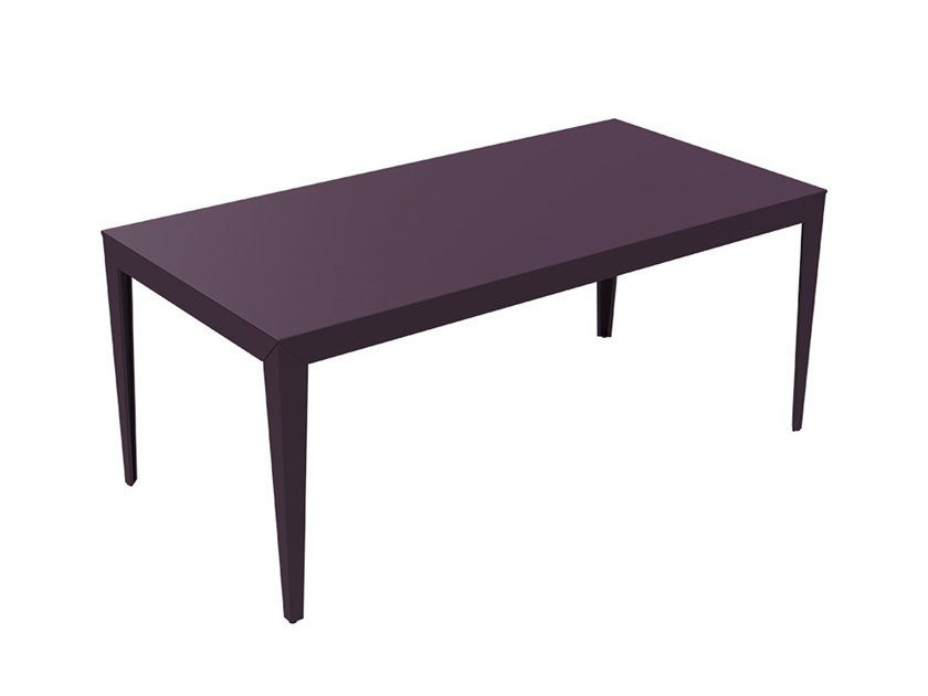 Rectangular powder coated aluminium garden table ZEF | Garden table by Matière Grise