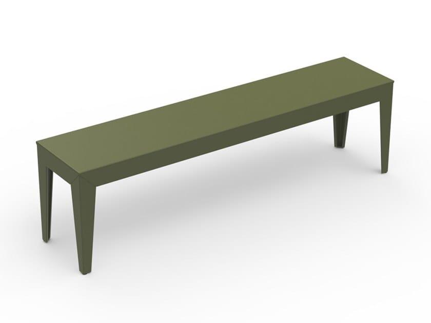 Powder coated aluminium garden bench ZEF | Powder coated aluminium garden bench by Matière Grise