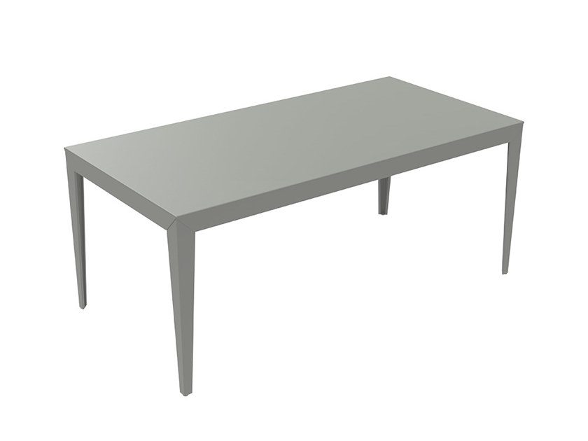 Rectangular powder coated steel table ZEF | Rectangular table by Matière Grise