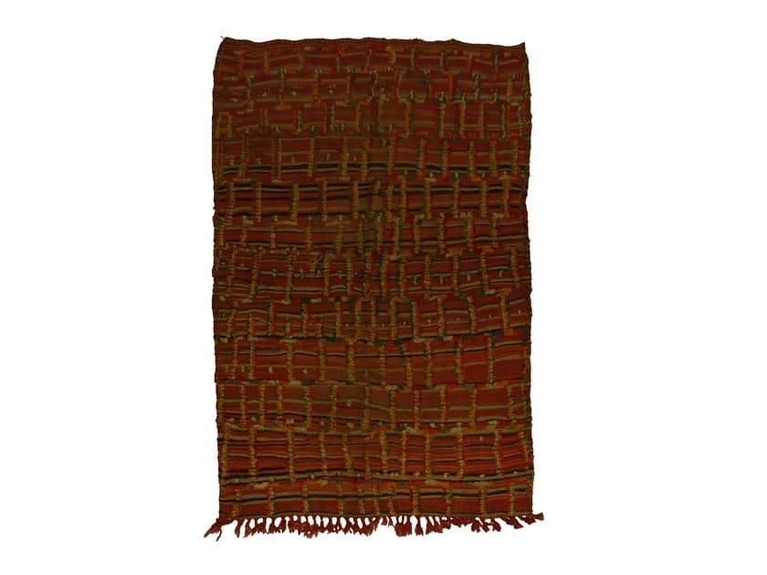 Long pile rectangular wool rug ZEMMOR TAA1015BE by AFOLKI