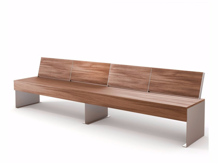 Wooden Bench with back ZEN | Bench with back by LAB23