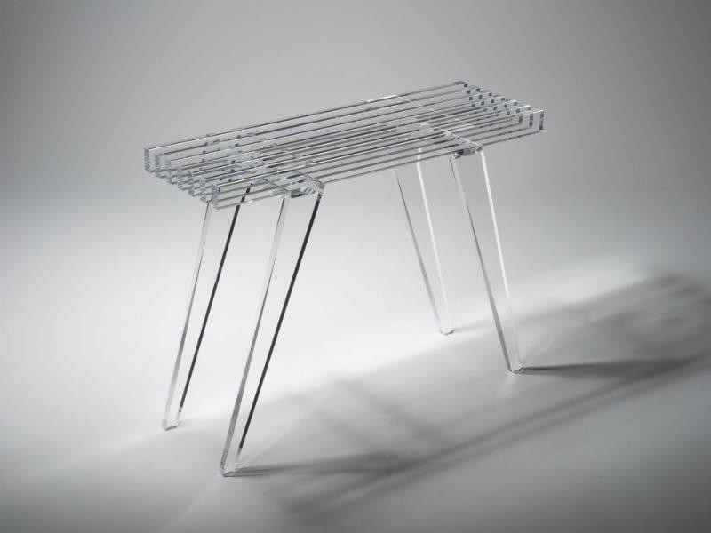Rectangular PMMA garden console ZEN 900 by Luxis