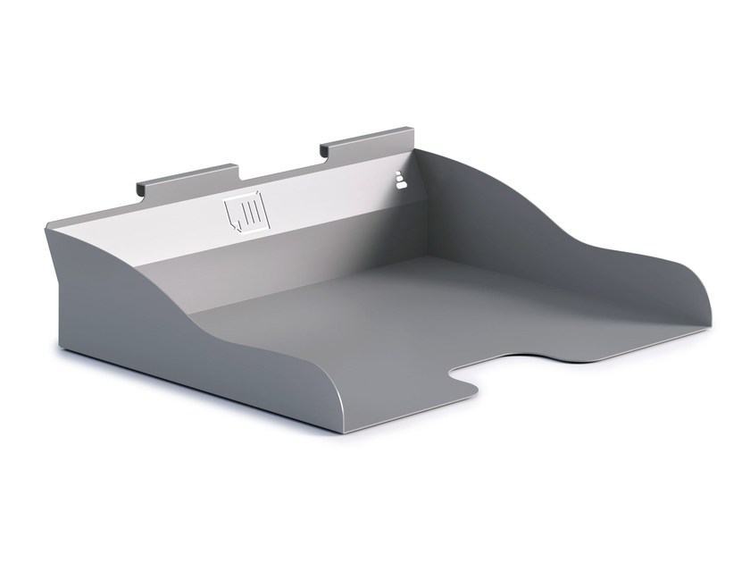 Plate desk tray organizer ZEN | Desk tray organizer by Steelbox by Metalway