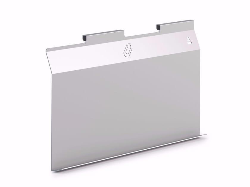 Magnetic wall-mounted plate office whiteboard ZEN | Office whiteboard by Steelbox by Metalway