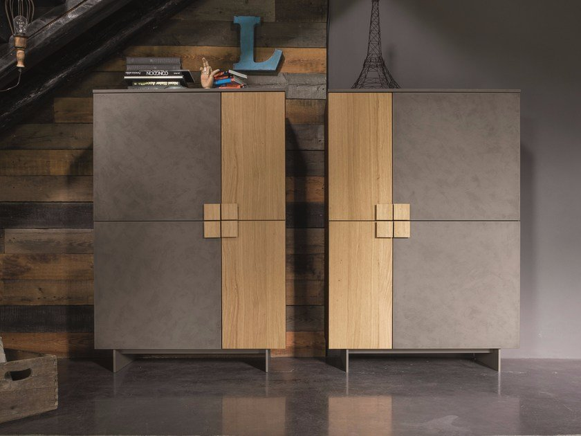 Lacquered highboard with doors ZEN | Highboard by Dall'Agnese