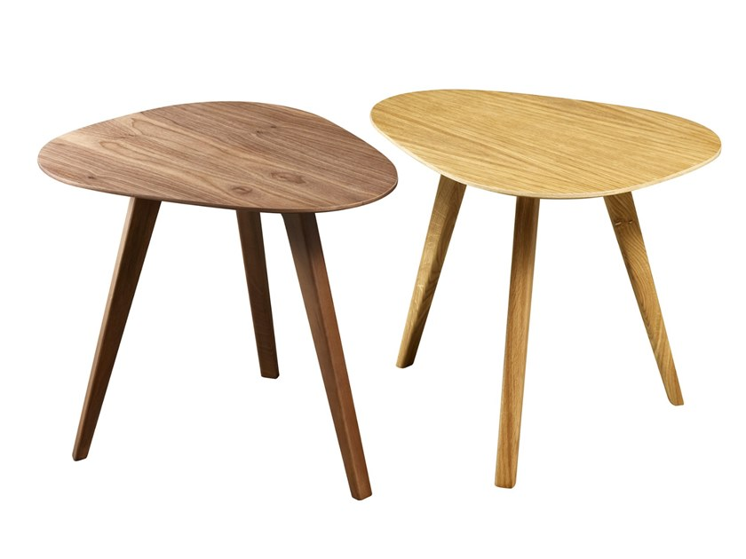 Oval wood veneer coffee table ZEN T by Conceito Casa