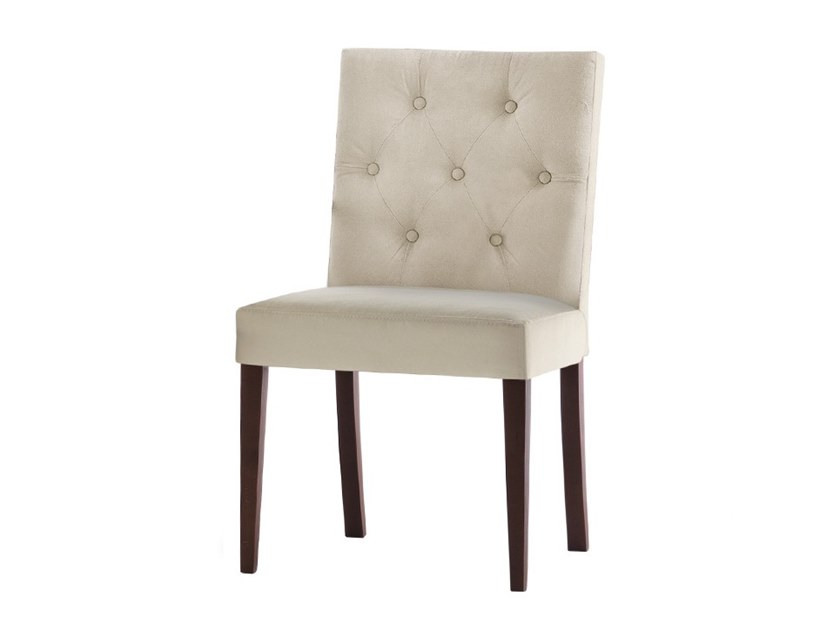 Tufted upholstered chair ZENITH 01618 by Montbel