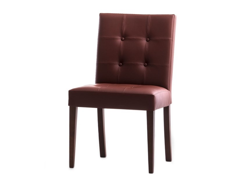 Tufted upholstered chair ZENITH 01619X by Montbel