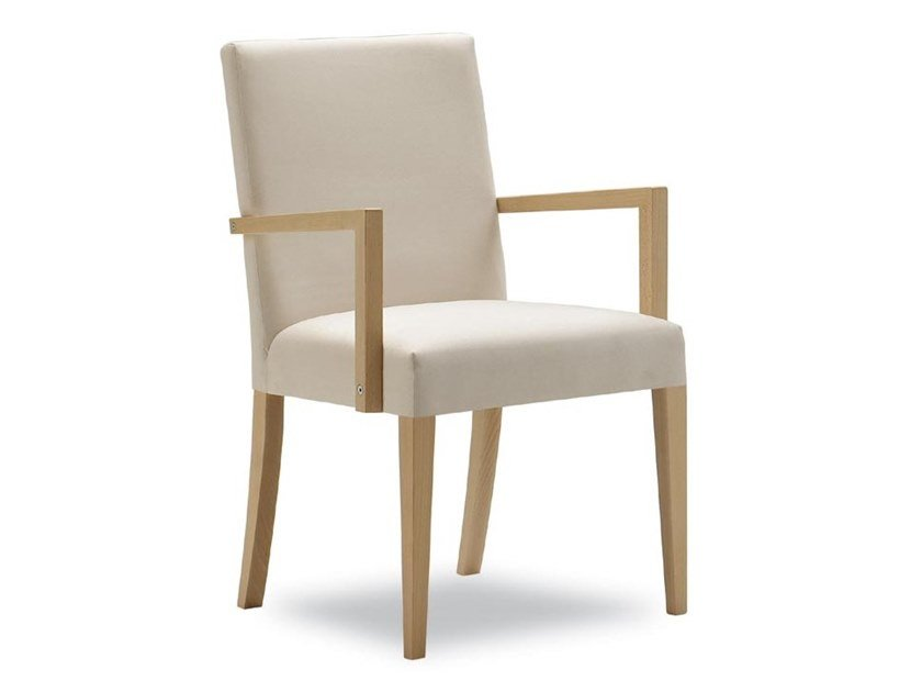 Upholstered chair with armrests ZENITH 01621 by Montbel