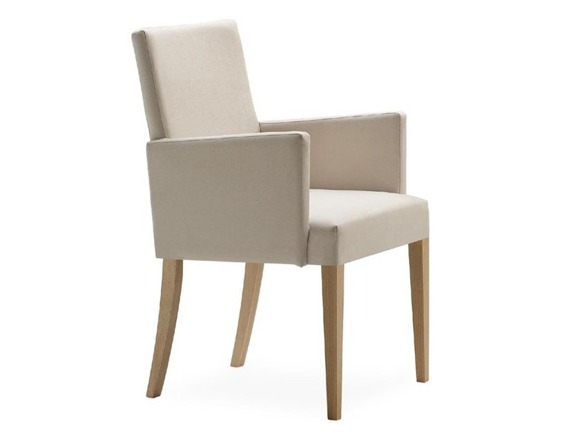 Upholstered chair with armrests ZENITH 01631 by Montbel