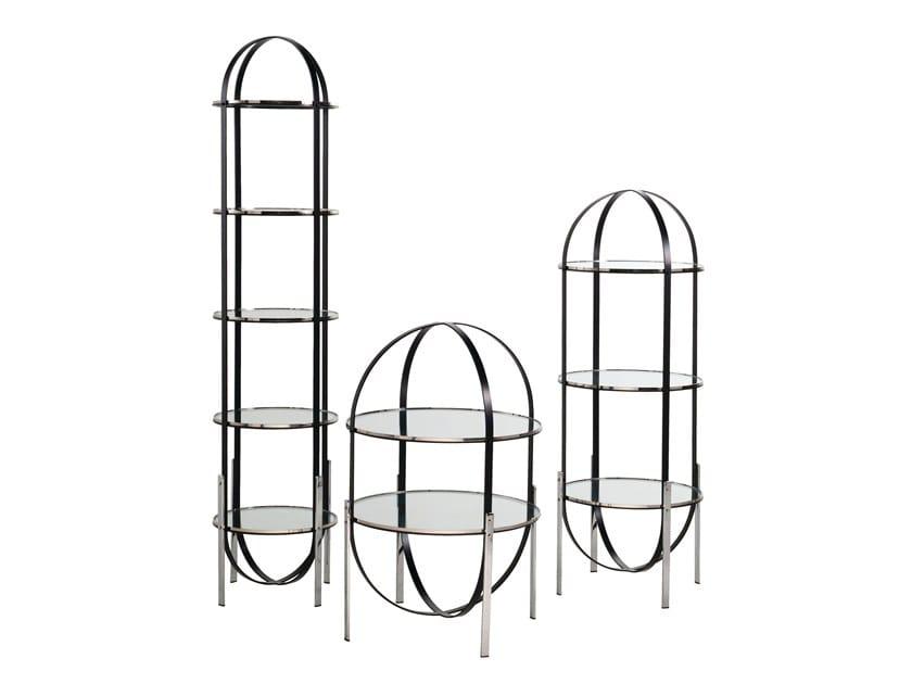 Open Freestanding Glass Bookcase Zeppelin By Roche