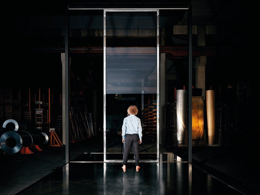 Lift and slide steel patio door with magnetic levitation 0G® - ZERØ GRAVITY by SECCO SISTEMI