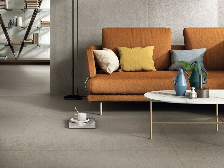 Porcelain stoneware wall/floor tiles with concrete effect ZERO.3 CONTEXT by Panaria Ceramica