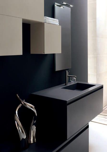 Bathroom Cabinet / Vanity Unit ZERO4 LAMINAM   COMPOSITION 10 By Arcom