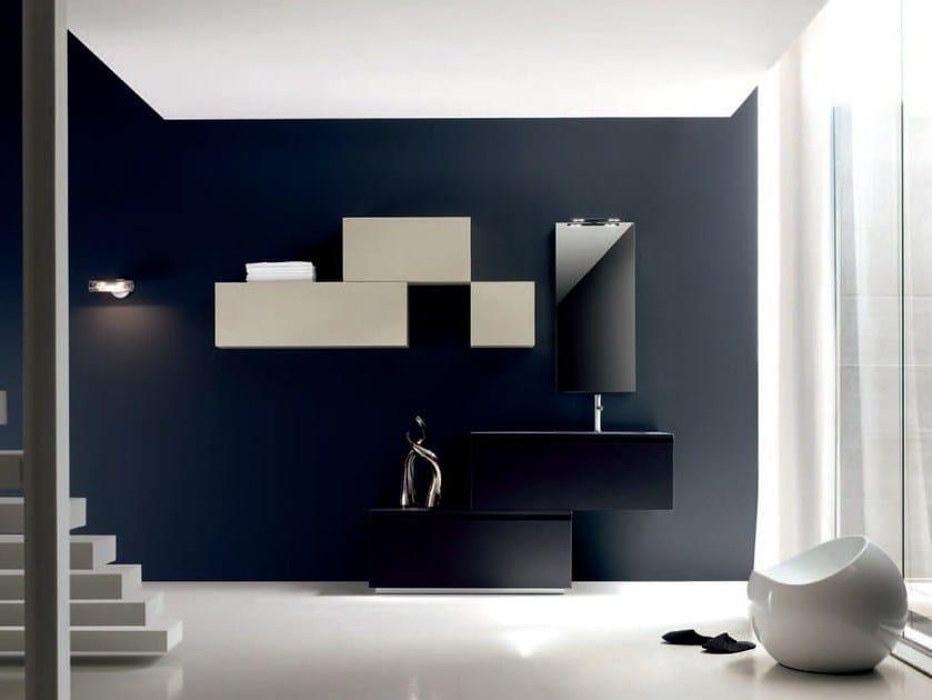 Sistema bagno componibile ZERO4 LAMINAM - COMPOSIZIONE 10 by Arcom