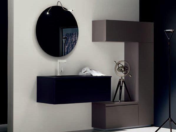 Sistema bagno componibile ZERO4 LAMINAM - COMPOSIZIONE 11 by Arcom