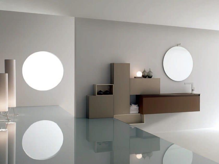 Sandblasted glass bathroom cabinet / vanity unit ZERO4 GLASS - COMPOSITION 3 by Arcom