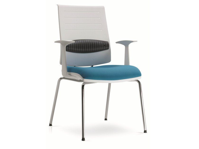 Plastic chair with armrests ZERO7 | Plastic chair by Ares Line