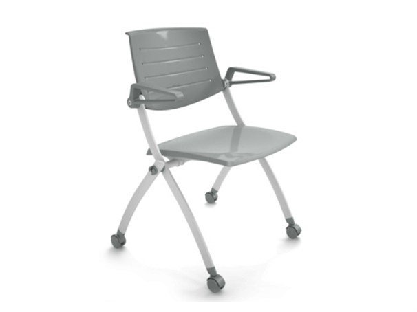 stackable folding plastic chair with casters zero9 chair with
