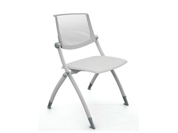 Stackable folding mesh training chair ZERO9 | Mesh training chair by Ares Line