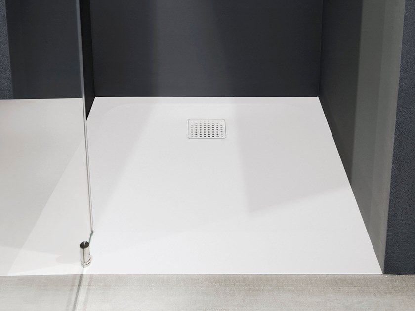 Rectangular Ceramilux® shower tray ZEROMATT by Antonio Lupi Design