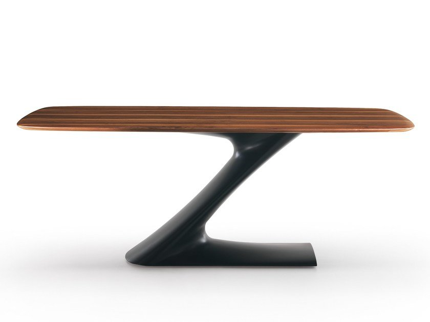 Rectangular custom dining table ZETA | Solid wood table by Oliver B.