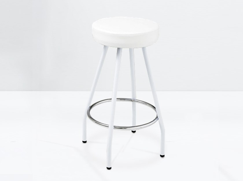 Fabric stool with footrest ZEUS 2.000-F by delaoliva