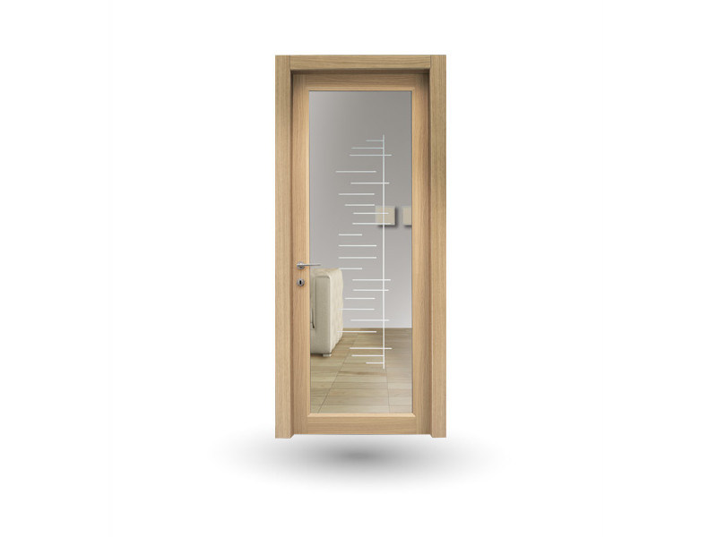 Hinged wood and glass door ZEUS Z209V1 GAMMA by GD DORIGO